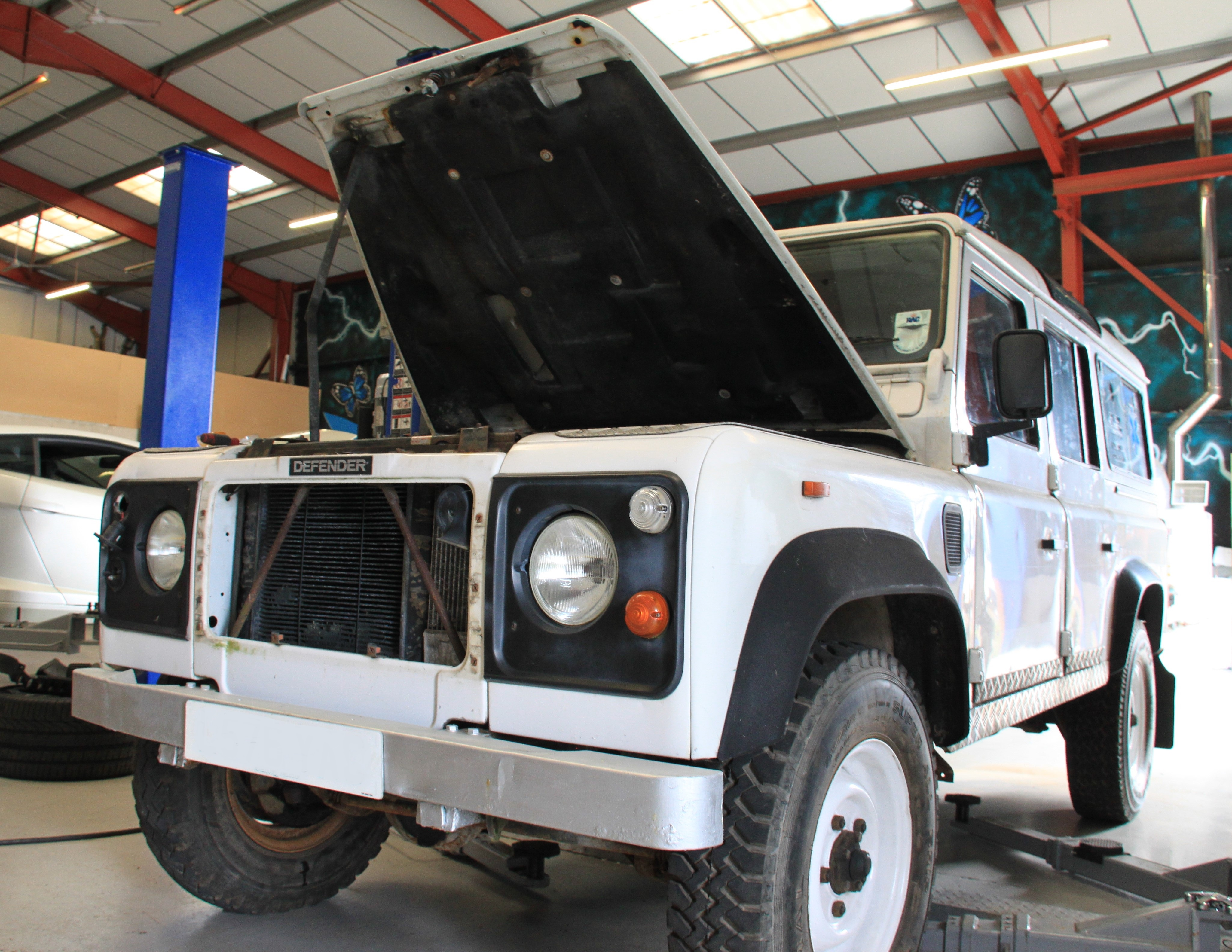 Land Rover defender 110 stripping back the years going through restoration performance upgrades defender tuning styling