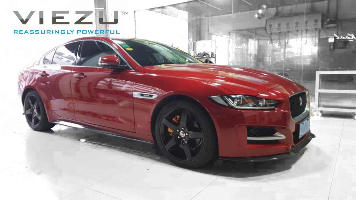Viezu launches its new aftermarket carbon fibre body kit for the Jaguar XE
