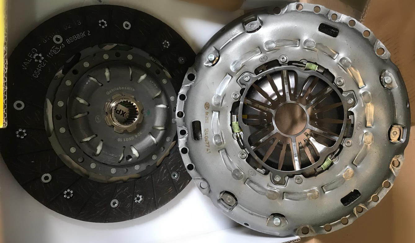 clutch repair and replacement old and new