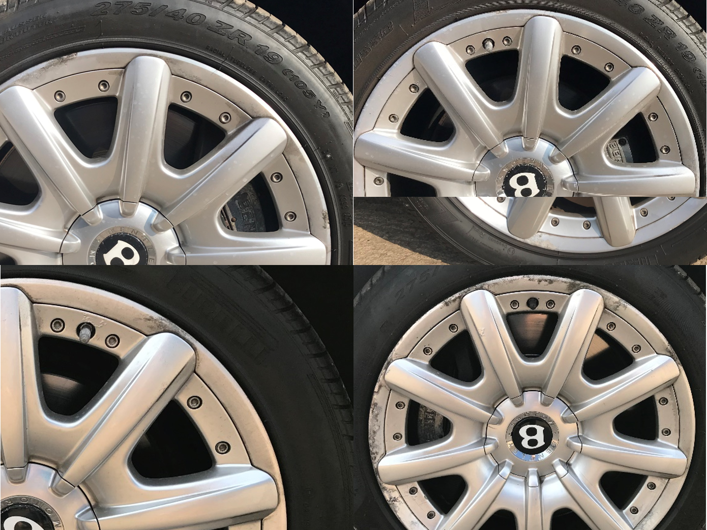 Bentley Continental GT Alloys Before Viezu Refurb