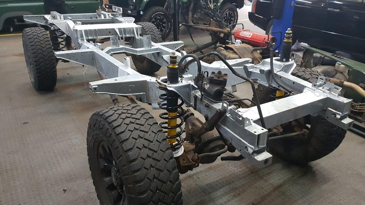 Land Rover Defender Galvanised Chassis Style