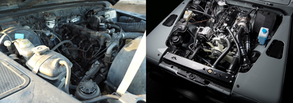 Land rover defender concours engine bay engine upgrades and restoration