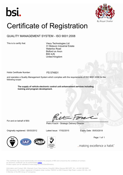 Viezu ISO Registration