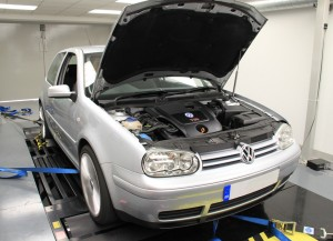 VW Golf in the Viezu workshop for tuning